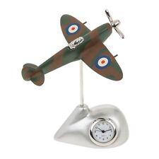 Totalmente Nuevo Reloj De Escritorio Miniatura Camuflada Spitfire Novedad 2750