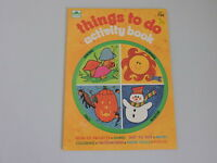Vintage Golden Activity & Coloring Book Things To Do 1975 Unused Great Graphics