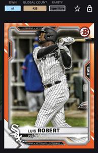 Topps MLB Bunt DIGITAL 21 Bowman Chrome Orange Base Super Rare Luis Robert
