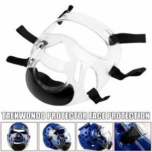 Taekwondo Face Shield Protective Mask Adjustable Strips Sports Gear Helmet Cover