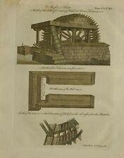 1797 ORIGINAL PRINTMOSS BOG WATER WHEEL BLAIR DRUMMOND CISTERN BUCKETS