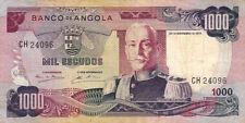 BILLET BANQUE ANGOLA 1000 escudos 1972 état voir scan 096
