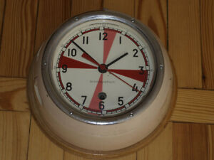 Vintage Boat Ship Cockpit Submarine Cabin Antimagnetic Clock Navy Military USSR
