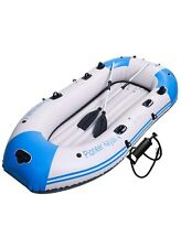 4 Person Inflatable Kayak, Boat w/Aluminum Oars, Cushion, Rope,Repair Patch (a)