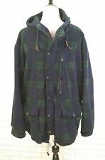 Vtg 90s Polo Ralph Lauren Polartec Fleece Anorak Jacket M-L Blue Tartan Plaid