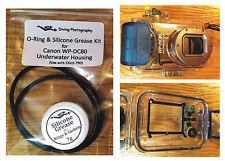O-RING & SILICONE GRASSO KIT PER CANON wp-dc80 Immersione Subacquea Case Custodia