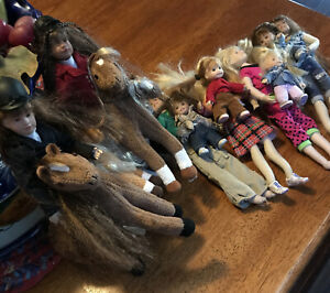 Vintage Hearts Only Club Doll Lot Of 6 No  Boxes 4 With Child 2 Equestrian