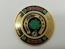 Las Vegas Good Luck Golden Casino Poker Chip Coin Card Guard Protector