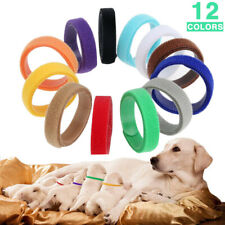 Puppy Whelping Collars Multicolor Adjustable Comfy Id Bands for Dogs Cat Newborn