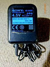 Sony 4.5V Mains Charger/ Adaptor AC-ES455 500mA 6W, Fits Numerous Devices