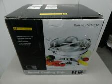 Gourmet 6QT  Stainless Steel Chafing Dish with Divider, NEW ITEM