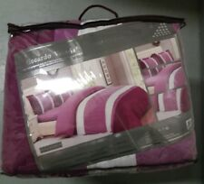 New Riccardo Valeria Luxury 3 Pc Quilted Bedspread Set With Pillowshams Purple