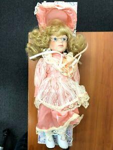 Vintage Lavender Lane Porcelain Doll TBL7498 Peach