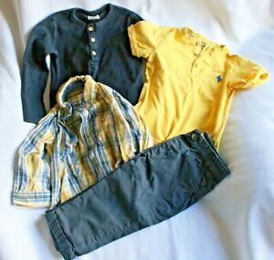 Baby boy navy and yellow bundle - age 12 - 18 months
