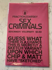 SEX CRIMINALS 11 UNREAD SEALED NM IMAGE COMICS SKETCH VARIANT