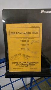THE ROME MODEL TRCH 10 12 16  OPERATING MANUAL