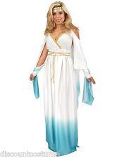 GREEK GODDESS WHITE & BLUE ADULT HALLOWEEN COSTUME WOMEN'S SIZE X-SMALL 3-5