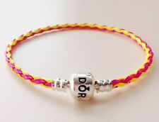 1PCS Rose Red/Yellow Leather Bracelets Bangle Fit 925 European Charms/Bead