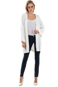 RRP €175 PINKO Crepe Jacket Size 44 / L Lightweight Open Front Made in Italy