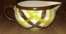 Vtg Vernon Ware Organdie Open Sauce Boat Gravy Brown Yellow Plaid California