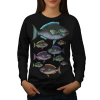 Wellcoda Color Fish Nature Womens Sweatshirt, Water Casual Pullover Jumper