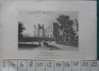 C1830 Antico Stampa Drayton Manor Staffordshire Sedile Di Sir Robert Stacca