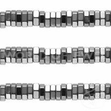 Filo Pietre Dure Semipreziose Perlina Ematite Disco Esagonale 02x01mm Naturale