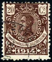 GUINEA USADO CORREOS ALFONSO XIII