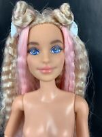 Barbie Extra Doll Pink Blonde Long Hair Fully Articulated Millie NUDE Earrings