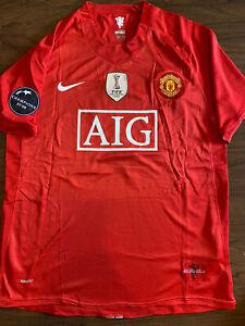 Manchester United 2008/2009 UCL Home Jersey - #7 Cristiano Ronaldo - L
