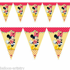 2.3 M Disney Minnie Mouse Cafe Bandera Banderín Estandarte De Decoración