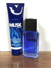 Avon Musk Marine 3.4oz Men's Eau de Cologne & After Shave Conditioner NOS 2010