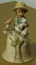 Vintage Enesco All The Lords Children Collectible Porcelain Bell 1980 E4859