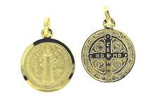 Sankt Benedikt Benediktus Kreuz Medaille Benediktuskreuz echt Gold 333