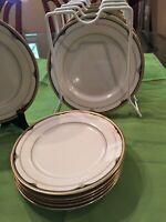 Mikasa Fine China Golden Shell Set Of 14 pcs. Gold/ Blue Plates Made in Japan