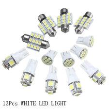13pcs Car Auto White LED Light Kit for Interior Dome License Plate Lamp Bulb