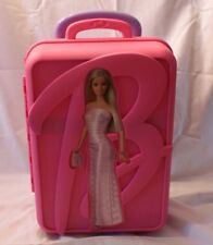 Barbie Rolling Doll Trunk Take A Long Carrying Hard Plastic Case Storage 2002 Af