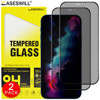 For iPhone 12 Mini 11 Pro X XS XR XS Max Tempered Glass Privacy Screen Protector