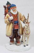 New Listing* 2001 Pipka Reflection of Christmas Six Inch Laplander Santa With Reindeer