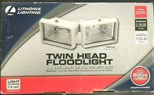 Twin Head Flood Light 300W Quartz Halogen Security Light O/B MISSING 1 BULB