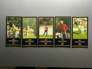 1993 Grand Slam Ventures Champions of Golf: The Masters Collection LOT OF 5