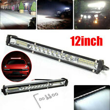 12inch 450W LED Work Light Bar Single Row Super Slim Spot Driving Off Road ATV