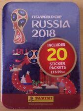 FIFA World cup Russia 2018 ~ Panini Sticker Collection ~ Mega Tin Inc 20 Packs