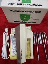 5 Speed Hamilton Beach Almond Hand Mixer in Original Box with Instructions New