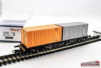 ROCO 76787 - H0 1:87 - Carro porta container 20' DB tipo Lgjs 598 IV - V