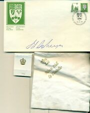 Governor General Edward Schreyer & Rideau Hall Set with Signed First Day Cover