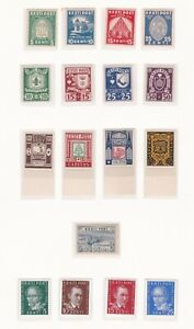 Estonia. 1936-1938 issues on Album Page. Mint.