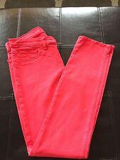J Brand Bright Red Skinny Jeans Size 27