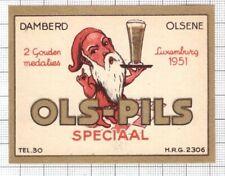 BELGIUM Brasserie Damberd,Olsene OLS-PILS dwarf beer label C2164 063