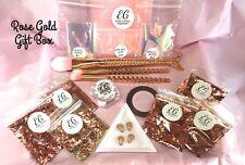Rose Gold Gift Box Glitter Brushes Art Decoration Gems Angel Paper Nail Leaf